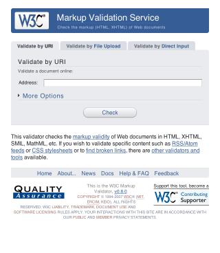 W3C Redesign